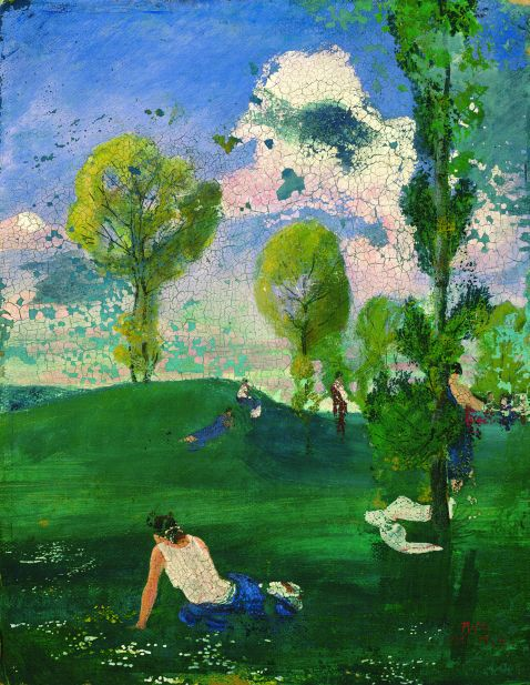 August Macke - Landschaft mit antiken Figuren