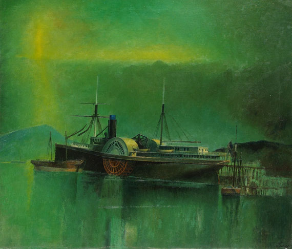 "Theodore Lux Feininger - The Pacific Steamer ""Nebraska"""
