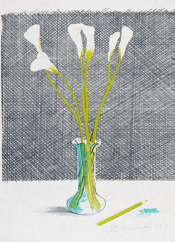 David Hockney - Lillies (Still Life)