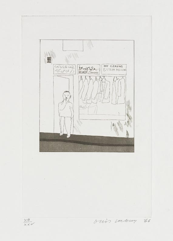 David Hockney - Fourteen poems by C. P. Cavafy. Chosen and illustrated with twelve etchings by David Hockney -