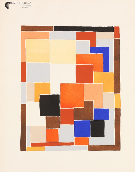 Sonia Delaunay-Terk - Compositions couleurs u. 1 Beigabe