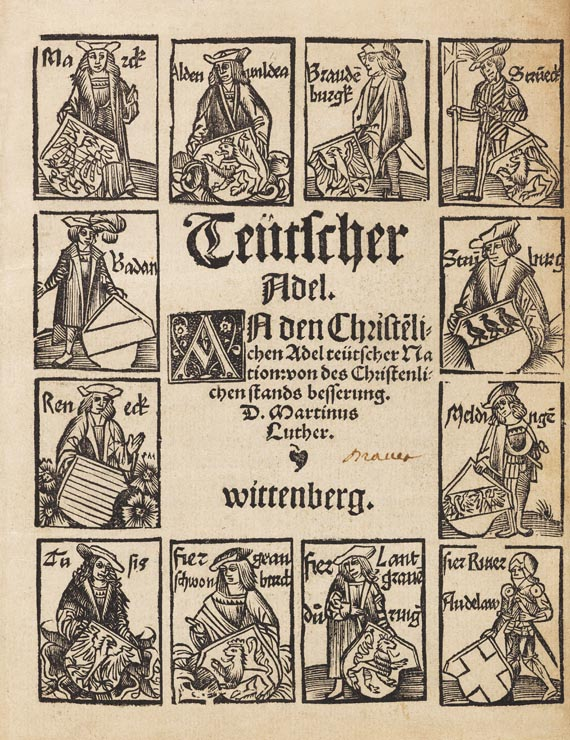 Martin Luther - Teutscher Adel. 1520