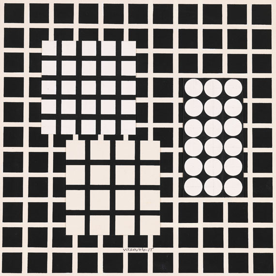 Victor Vasarely - Composition N8