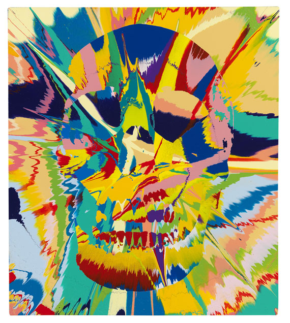Damien Hirst - Beautiful Flora Lunacy Painting