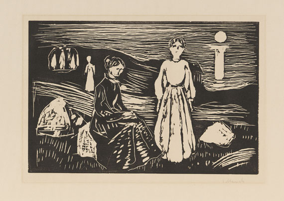 Edvard Munch - Frauen am Strand
