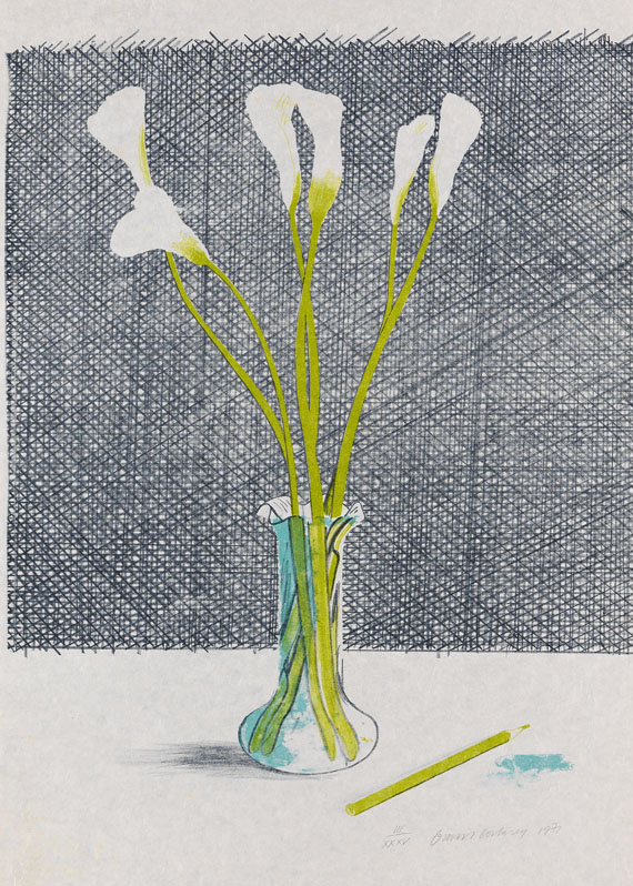 David Hockney - Lillies