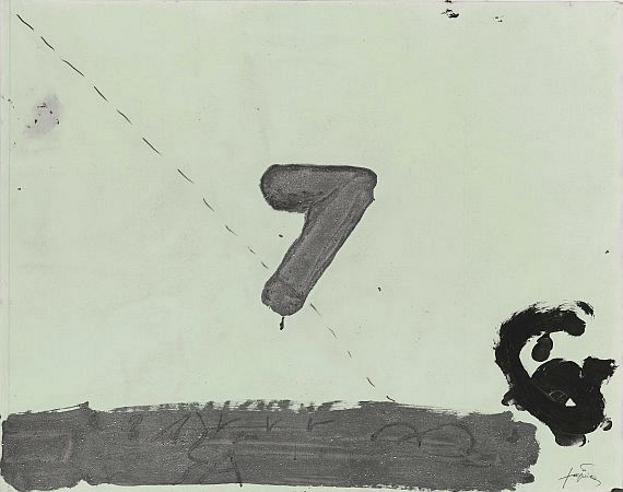 Antoni Tàpies - 7 on Acetate