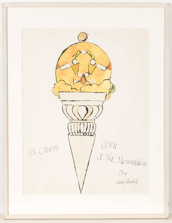 Andy Warhol - Ice Cream Cone - Frame image