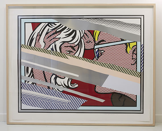 Roy Lichtenstein - Reflections on Conversation - Frame image