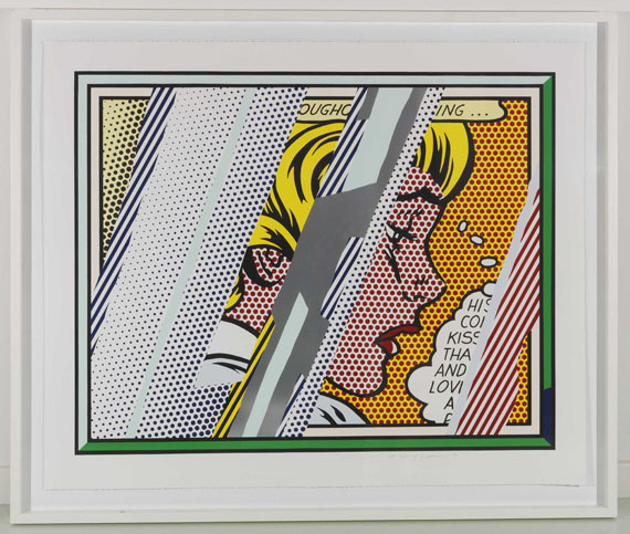 Roy Lichtenstein - Reflections on Girl - Frame image