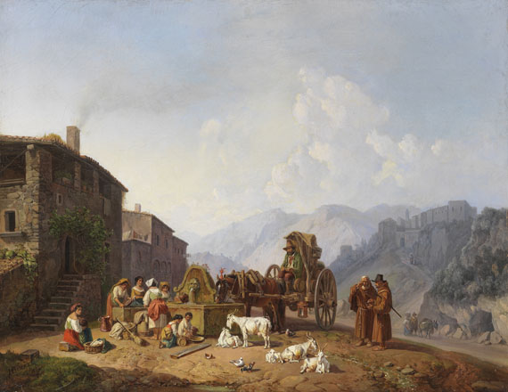 Am Dorfbrunnen in..., 1852