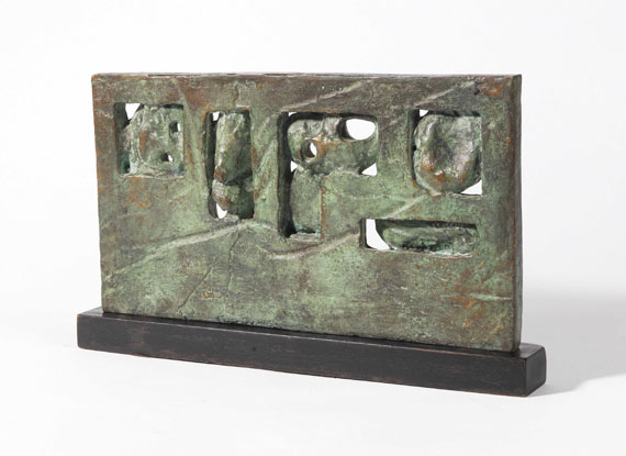 Henry Moore - Time/Life screen: Maquette No. 3 - Back side