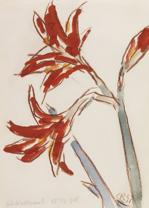 Christian Rohlfs - Roter Amaryllis
