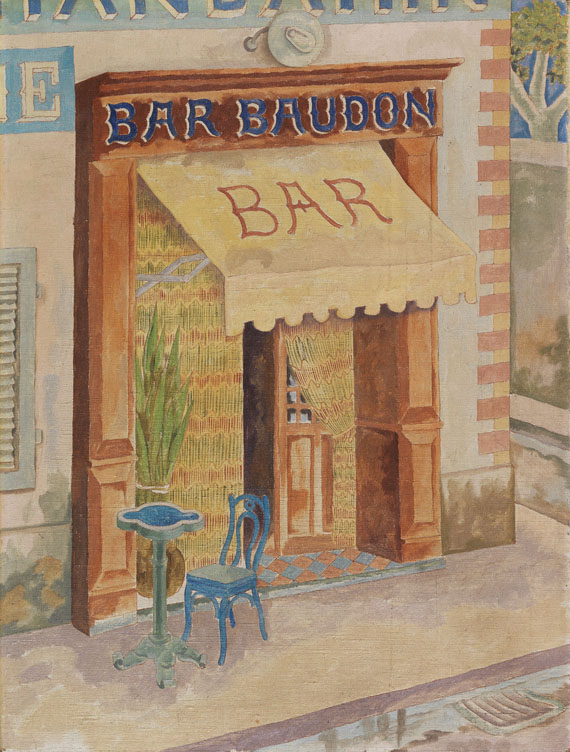 George Grosz - Marseille. Bar Baudon