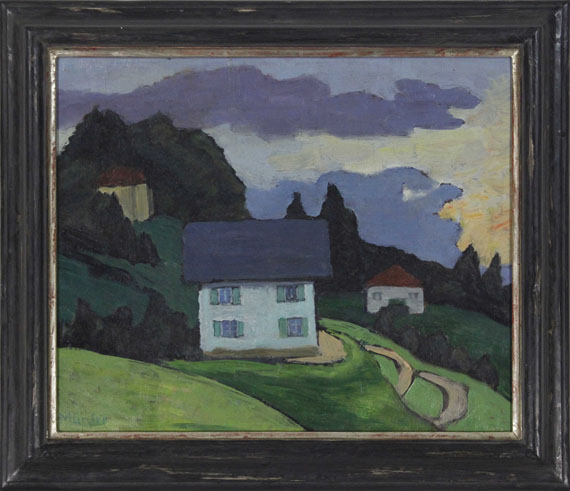 Gabriele Münter - Haus am Hang - Frame image