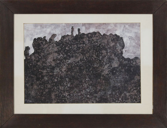 Jean Dubuffet - Paysage rocheux sombre - Frame image