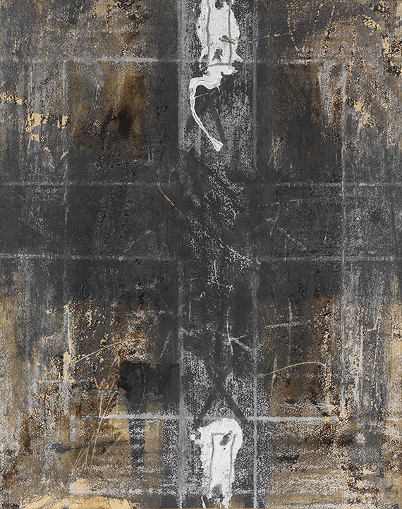 Antoni Tàpies - Paper with two marks
