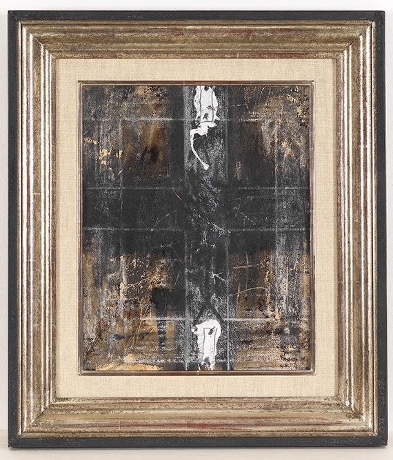 Antoni Tàpies - Paper with two marks - Frame image