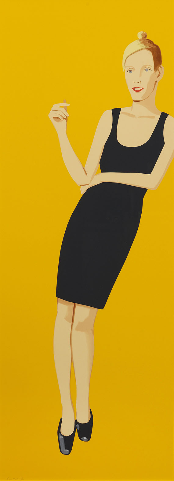 Alex Katz - Black Dress 3 (Oona)