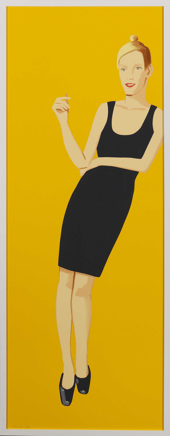 Alex Katz - Black Dress 3 (Oona) - Frame image