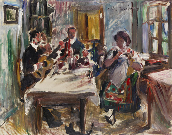 Lovis Corinth - Tiroler Bauernstube